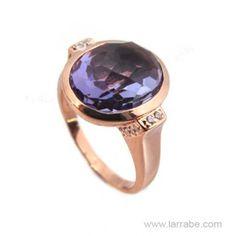 Sortija de Plata Color Amatista de la joyería Larrabe.  #Sortija #anillo #joyas #joyería #moda #mujer #fashion Gemstone Rings, Gemstones, Jewelry, Amethyst, Pendants, Bracelet, Jewels, Jewlery, Bijoux