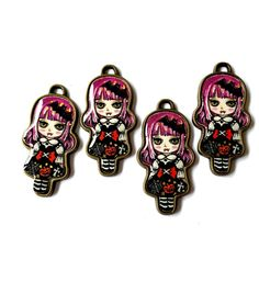 Kawaii Japanese Lolita Style Vampire Doll Charms by KajaSupplies