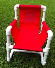PVC Pipe Chair by ButtonsAndBritches on Etsy, $40.00