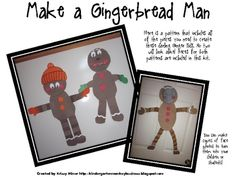 Mrs. Miner 's Monkey Business presents a FREE versatile gingerbread man pattern!  There are many different ways to assemble them that no two will look alike in a classroom!  I hope you enjoy them.