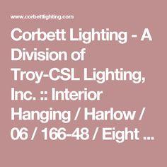 "Corbett Lighting - A Division of Troy-CSL Lighting, Inc. :: Interior Hanging / Harlow / 06 / 166-48 / Eight Light Pendant + LED / 34""W 46.5""H $0.00"