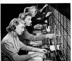 the telephone line - I actually worked a switchboard like this.... Got myself shocked many times!!!!!!