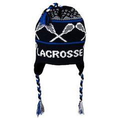 LACROSSE Fleece Lined Knit Winter Hat Black Blue ChalkTalkSPORTS.  27.99  Snowboarding Outfit 2280d1437dae