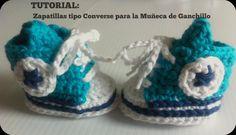TUTORIAL zapatillas tipo Converse para la Muñeca de Ganchillo de LasKekasdeCarol en Etsy