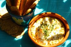 Baked Goat Cheese Dip. I can eat this like Candy!  Best way to use up those large goat cheese logs from Costco.