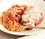 Chicken or Veal Parmigiana A hard grating cheese is a must when it comes to the breading mixture, but Parmesan isn't the only option -- we like a salty, robust Pecorino Romano. Veal Recipes, Parmesan Recipes, Pasta Recipes, Chicken Recipes, Cooking Recipes, Healthy Recipes, Dinner Recipes, Delicious Recipes, Dinner Ideas