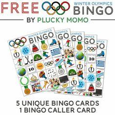 FREEBIE: Winter Olympics Bingo