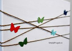 DIY butterfly canvas art