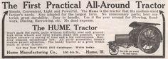Hume tractor 1915