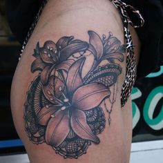 lily lace tattoo