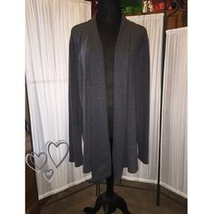 Gray Cardigan Very nice gray cardigan.  I wore this 1 time.  Very soft. Great pre-loved condition.  Good quality.  Thank you for visiting my closet. . Teresa JKLA Sweaters Cardigans