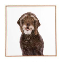 Susan Goddard Doodle Dog On White Framed Wall Art | DENY Designs Home Accessories #doodle #canvasprint #moderndecor #homedecor #dog #dogart