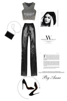 """Saturday Night ♥️"" by anne-977 ❤ liked on Polyvore featuring Thierry Mugler, Topshop, Christian Louboutin and Nine West"