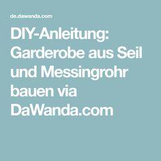 DIY-Anleitung: Garderobe aus Seil und Messingrohr bauen via DaWanda.com