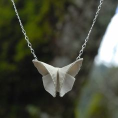 Silk Origami Butterfly Necklace from Sew Smashing $28