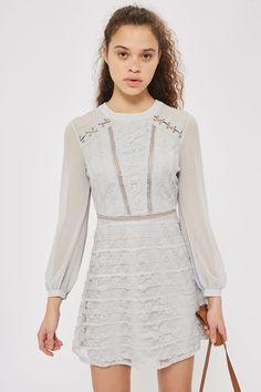 Lace Up Shoulder Mini Dress - Shop All Sale - Sale - Topshop USA