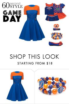 """""""60 Second Style Game Day Florida Gators"""" by aoifeacheron ❤ liked on Polyvore featuring Lattori, Accessory PLAYS and gameday"""