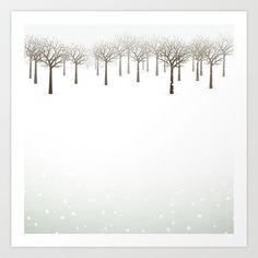 Winter Forest - Art Print by friztin - $17.00