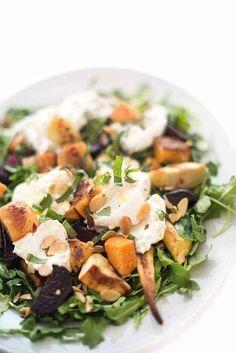 Roasted Root Vegetable Salad with Burrata - The Lemon Bowl®