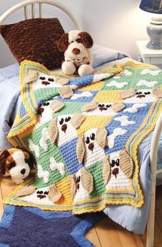 puppy dog crochet afghan