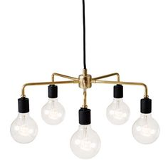 Features:  -Porcelain sockets.  -Powder-coated steel frame.  -Tribeca collection.  Finish: -Brass.  Material: -Metal.  Number of Lights: -5.  Wattage: -40 Watts.  Bulb Type: -Incandescent.  Material D