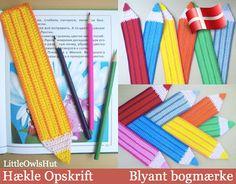 DANSK opskrift - https://www.etsy.com/dk-en/listing/191870965/017dk-blyant-bogmarke-amigurumi-hakle