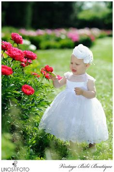 Christening Baptism dress Flower girl dress by VintageBebeBoutique, $100.00