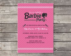 Barbie Birthday Party Invitation - Printable