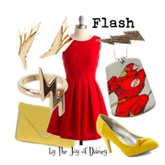 """Flash (DC Comics)"" by thejoyofdisney on Polyvore"