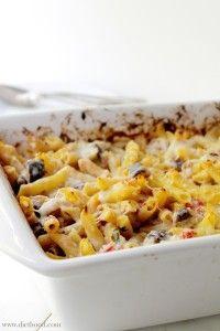 Baked Eggplant Penne Pasta | www.diethood.com | #pasta #eggplant #dinnerrecipes