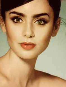 its almost unfair how beautiful she is #lilycollins #beautiful #makeup #lancome