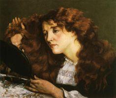 'porträt von `jo` , der schön irish frau', öl auf leinwand von Gustave Courbet (1819-1877, France)