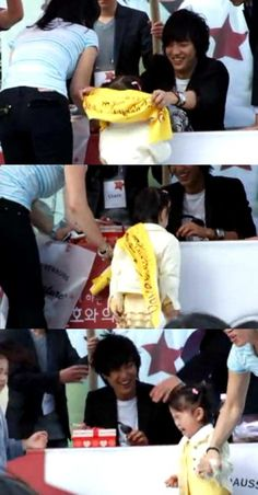 Actor Lee Min Ho faces an embarrassing moment from a little girl?