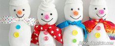 Çoraptan Kardan Adam Nasıl Yapılır?Resimli Tarif - http://www.bizkadinlaricin.com/coraptan-kardan-adam-nasil-yapilirresimli-tarif.html  Çocuklar kardan adamla oynamaya bayılırlar! çoraptan oyuncak kardan adam nasıl yapılır? resimli tarif makalemizde aşama aşama resimlerle çorabı kullanarak kardan adamın yapılışını anlattık. Malzemeler Makas Geniş bant yapıştırıcı iğne iplik beyaz çorap düğme renkli kumaşlar pirinç veya elyaf Yapılışı Ç