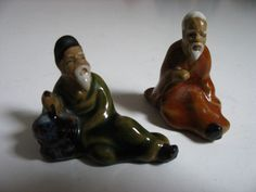 Vintage Japanese Men Ceramic Miniature by ProfessorMelchior