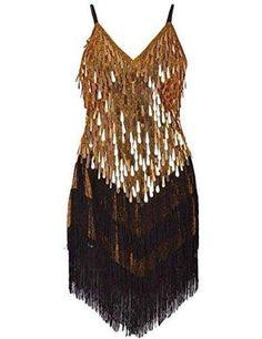 a1e856a0c89c Art Deco 1920s Gatsby Tassel Fringe Sway Flapper Costume Dress