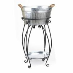 Galvanized Beverage Tub with Stand | Kirkland's #Kirklands #Outdoor #Entertaining