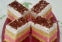 Tutti-Frutti szelet Tutti Frutti, Vanilla Cake, Tiramisu, Cheesecake, Ethnic Recipes, Food, Macs, Sweets, Sheet Cakes