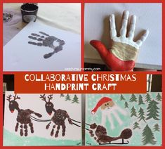Collaborative Christmas Handprint Craft from Teach Me Mommy