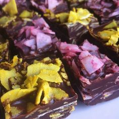 Our beet & turmeric infused ginger maple coconut=raw Easter chocolate