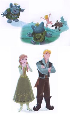 :( Kristoff REALLY getting annoyed with Anna giggling