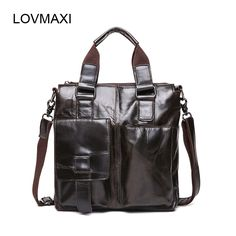 ec1b67428c LOVMAXI Leather Men s Bags Casual Leather Shoulder Bag Genuine Leather Men s  Vintage Handbags Business Messenger Bag Briefcases-in Crossbody Bags from  ...