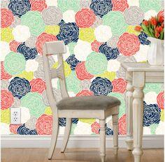 $150 4x8 Removable Wallpaper Blossom Print Multi by GailWrightatHome