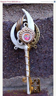 ON SALE Edges of Light Key Necklace