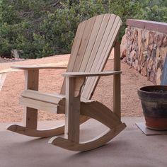 Tim Cole of Colorado built this rocker from our plans Rocking Chair Plans, Fire Pit Patio, All Over The World, Indoor Outdoor, Color Schemes, Colorado, Deck, How To Plan, Building