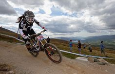 Fionn Griffiths of Great Britain competes in the woman's downhill event. Jeff J Mitchell/Getty Images
