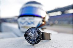 Max Chilton wear the Armin Strom Limited Edition Max Chilton Edge Double Barrel watch at Texas Motor Speedway