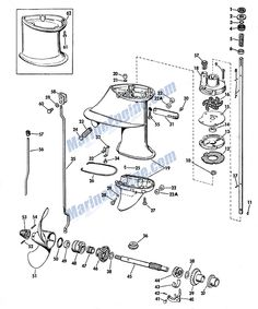 Johnson Lower Unit Group Parts for 1968 6hp CDL25R
