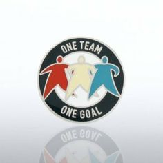 Lapel Pin - One Team, One Goal by Baudville. $5.95. Each lapel pin is beautifully crafted and individually packaged in a clear plastic snap box. All lapel pins have a military clutch backing. Velvet lapel pin presentation boxes are sold separately.