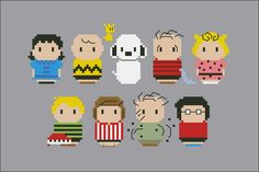 Mini People - Peanuts cross stitch pattern by cloudsfactory Beaded Cross Stitch, Cross Stitch Embroidery, Cross Stitch Designs, Cross Stitch Patterns, Stitch Character, Tsumtsum, Stitch Book, Perler Patterns, Cross Stitching